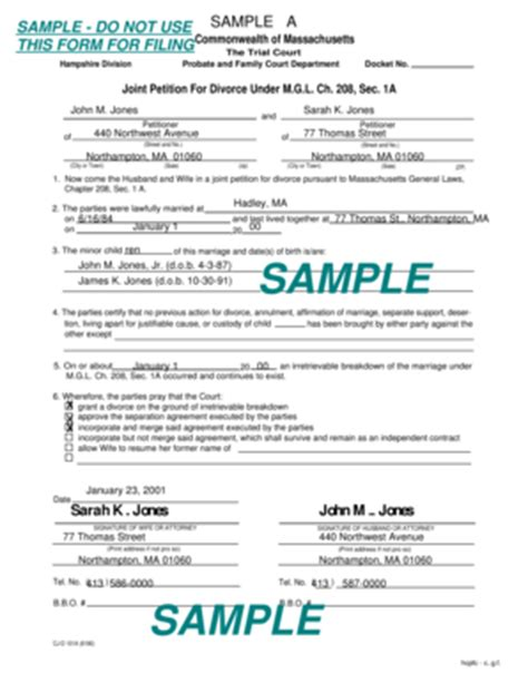 petition to seal form arkansas bill of sale form massachusetts joint petition for divorce