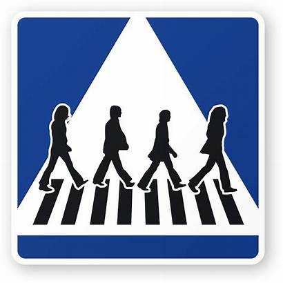 Road Crossing Abbey Beatles Silhouette Signs Clipart