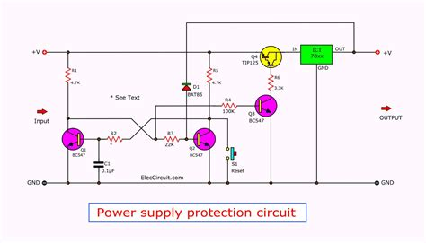 Power Supply Protection Circuits Eleccircuit
