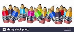 Bleistifte Zum Zeichnen : multi farbe gemischt bleistift rahmen mit mini bleistifte zeigt dem konzept der erziehung ein ~ Frokenaadalensverden.com Haus und Dekorationen