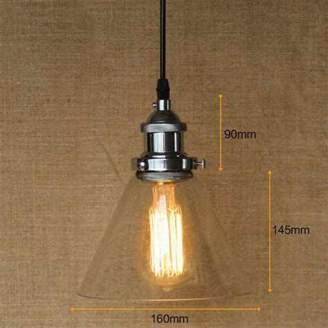 kitchen pendant lighting glass shades hanging clear glass shade pendant l with edison light 8385