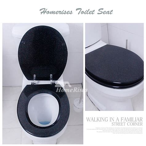 glitter toilet seat resin blacksilver undermount