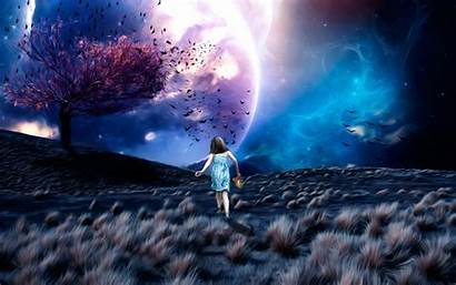 Fantasy Dream Wallpapers Alone Anime Walking Lost