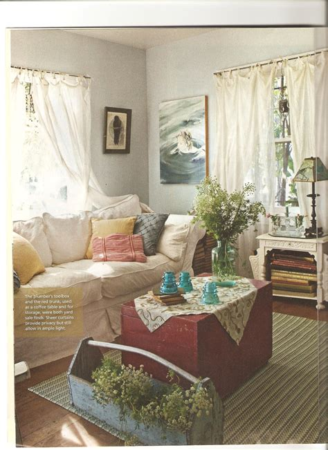 Country Cottage Style Living Rooms Artist Lynn Hansons