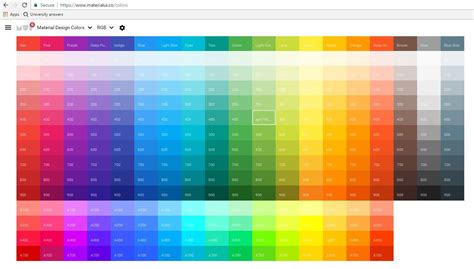 updated quickly creating material design colours in