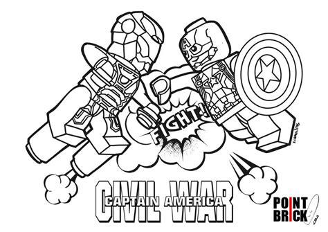 disegni da colorare lego marvel civil war elves line