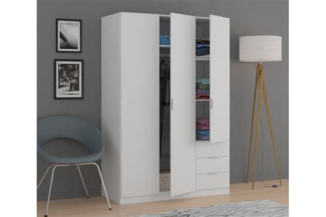 armarios de 3 puertas armario 3 puertas 3 cajones en color blanco al mejor