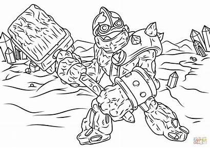 Skylanders Skylander Coloring Giants Crusher Ausmalbilder Dessin