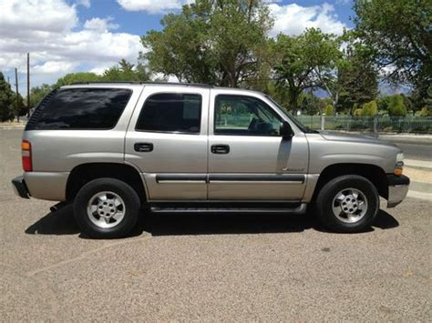Sell Used 2003 Chevrolet Tahoe Suv 4wd Chevy Grey Leather