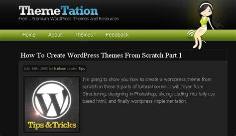 detailed wordpress theme development tutorials