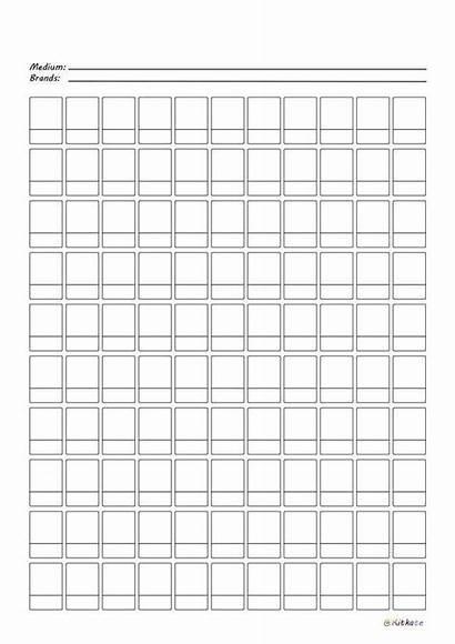 Palette Swatch Chart Printable Copic Imgur Version