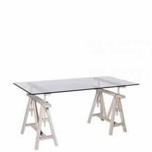Höhenverstellbarer Schreibtisch Gestell : h henverstellbarer schreibtisch aus eichenholz massiv und glas 175 cm l nge kaufen bei ~ Watch28wear.com Haus und Dekorationen