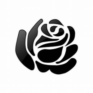 Clip art, Simple rose and Blanco y negro on Pinterest