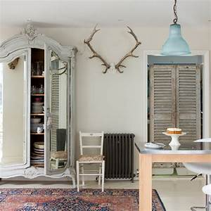 neutral shabby chic dining room dining room decorating With shabby chic home ideas uk