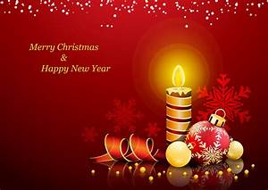 Merry Christmas And Happy New Year Card Wallpaper ...