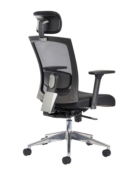 Reclining Salon Chair With Headrest Uk by Gemini 300 Series Mesh Task Chair With Adjustable Arms And