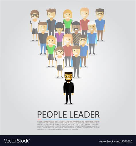 leader price siege social telephone leader stands in front of a crowd royalty free vector image