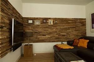 Wohnzimmer Wand Holz : wandverkleidung holz wohnzimmer ebenfalls modern design ~ Lizthompson.info Haus und Dekorationen