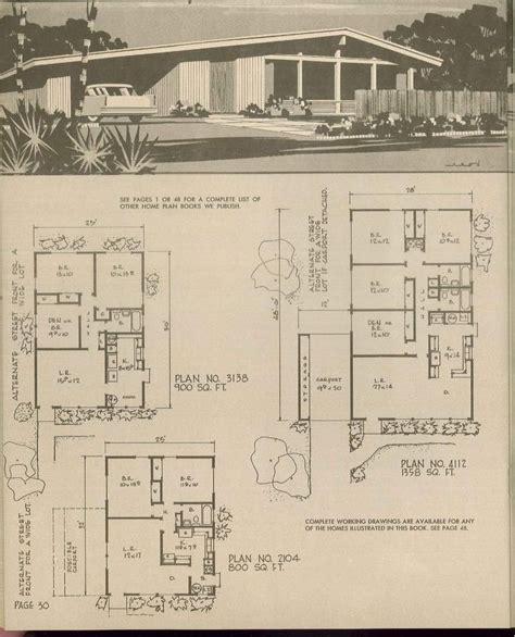 spectacular 1950s house plans 17 best images about retro house plans on mid