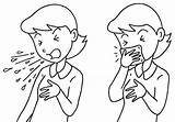 Cough Clipart Manners Coughing Sneezing Coloring Mouth Clip Sneeze Etiquette Cliparts Library Sheets Pages Template Measures Influenza Wheezing Drawing Throat sketch template