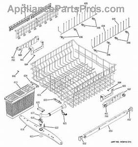 Ge Wd22x10046 Middle Spray Arm Assembly