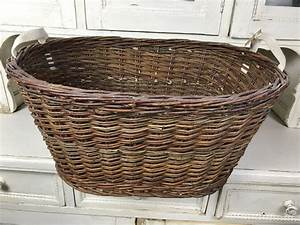 Vintage, Industrial, French, Bakers, Baskets, Cane, Willow, 1304, U2013, Fossil, Vintage, Australia