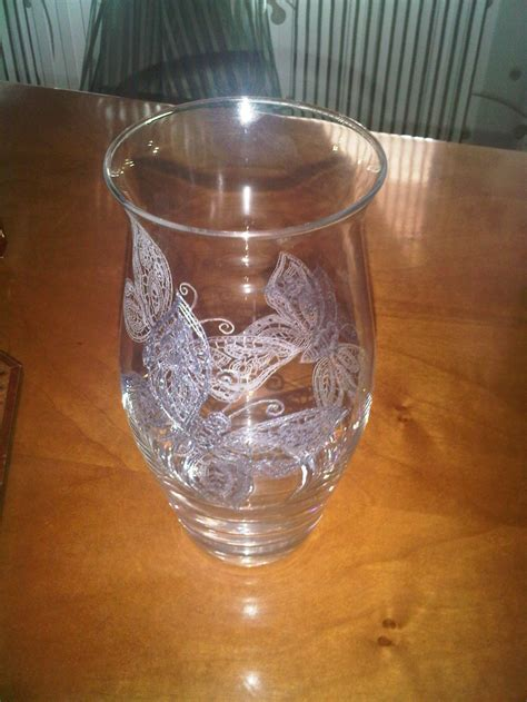 butterflies  glass diy engrave