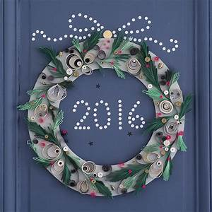 Roulé De Noel : fabriquer une couronne de porte en papier roul marie claire ~ Medecine-chirurgie-esthetiques.com Avis de Voitures
