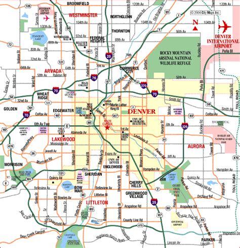denver metro map holidaymapqcom