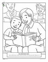 Coloring Pages Lds Obey Children Church Parents Sharing Bible Friend Worship Singing Happy Mormon Living Kleurplaten Template Kerk Van Primary sketch template