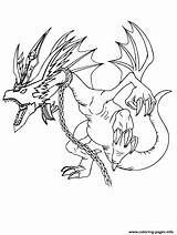Coloring Neck Dragon Chain Around Printable sketch template