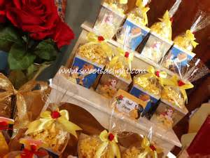 christmas goody bags beauty and the beast dessert table delight