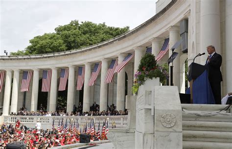 Trump at Arlington Cemetery