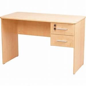 Schreibtisch Mit Schubladen : mytibo schreibtisch vigo mit 2 schubladen abgerundete ecken buche ~ Frokenaadalensverden.com Haus und Dekorationen
