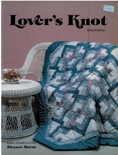 quilt in a day quilt in a day lover s knot quilting book eleanor burns