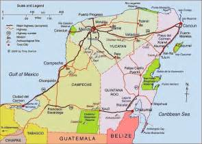 Merida Mexico Yucatan Peninsula Map