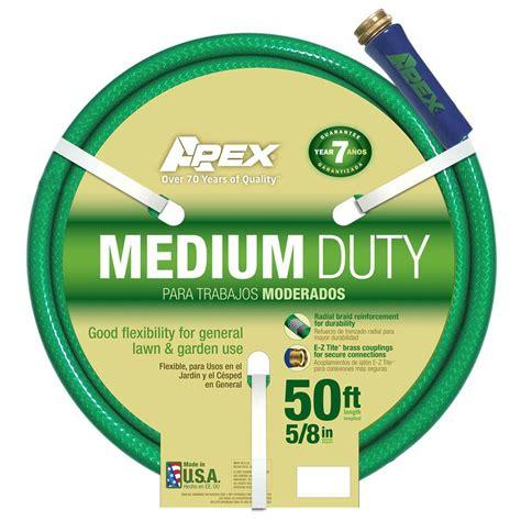 home depot garden hose apex 5 8 in dia x 50 ft medium duty water hose 8535 50