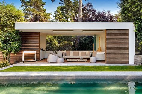 Moderne Poolhäuser by Poolhaus Modern Suche Laube Modern Pool House