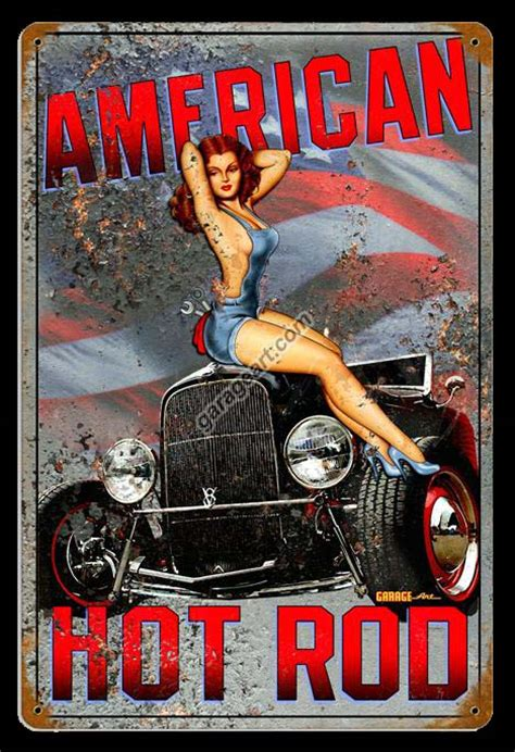 Legs Pin Up Girl Sign  Pin Up Girl  Garage Art Llc
