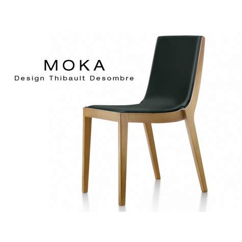 lot 6 chaises chaise design bois moka assise et dossier garnis