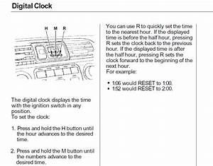 Clock Wont Turn Off - Honda-tech