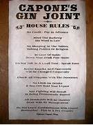 House Rules  Prohibition Poster  Rules Prohibition  Joint Speakeasy  Prohibition 1920 Signs