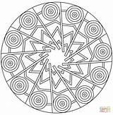 Coloring Mandala Pages Circles Circle Printable Print Stars Pdf Clipart Dot Drawing Popular Coloringhome sketch template