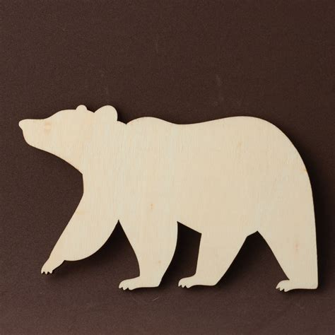 unfinished wood bear cutout  wood cutouts wood
