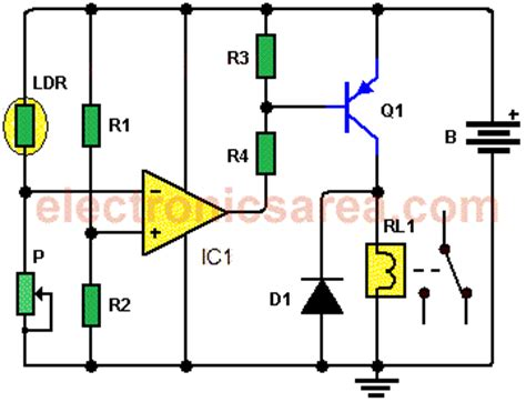 Light Activated Switch Circuit With Ldr Amp