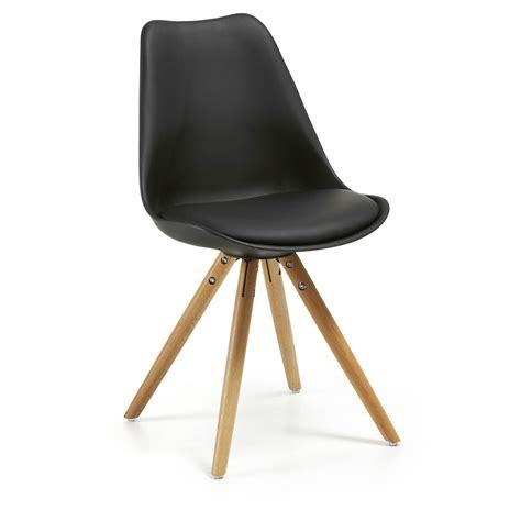 chaise plastique noir chaise ralf en bois plastique