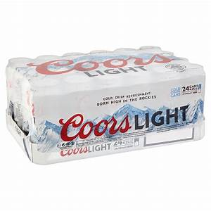 Coors Light Nutritional Information Coors Light Can Christmas Pack 24 Pack