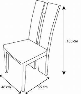 Dimension Chaise Standard : table chaise salle manger les bons plans de micromonde ~ Melissatoandfro.com Idées de Décoration
