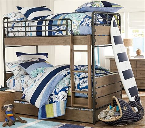 owen twin over twin bunk bed pottery barn kids