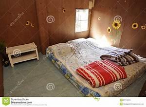 Poor Bed Room Brown Standard Royalty Free Stock Photo
